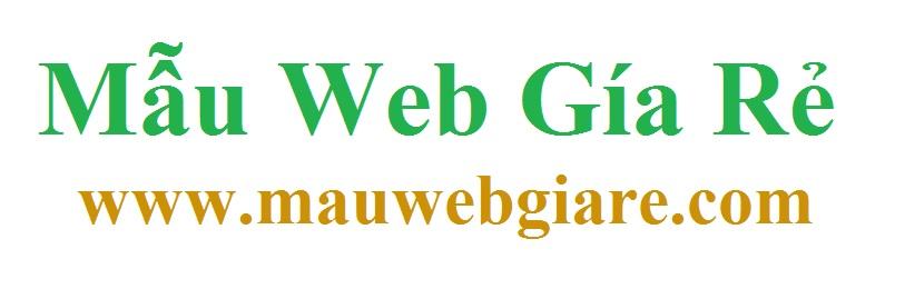 Mẫu Web Giá Rẻ